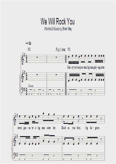 We will we will rock you. We Will Rock You Piano Sheet Music   OnlinePianist