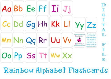 printable alphabet flashcards instant