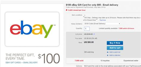 ebay gift card   limit   ppdg doctor