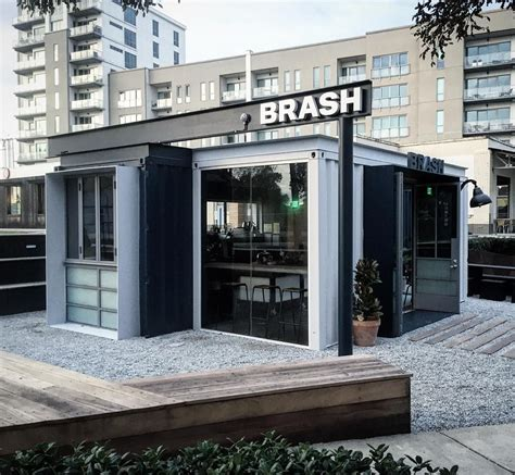 There's one below bryant park on 40th st and another in the bottom of rockefeller center. brash coffee // Atlanta, GA | Container house, Cargo container homes, Brash