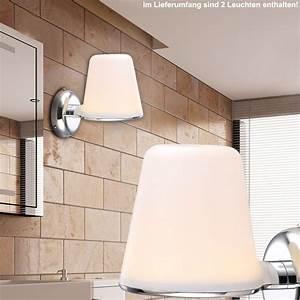 Ip44 Leuchten Badezimmer : design 2er set 8 watt chrom led wand leuchte badezimmer ~ Michelbontemps.com Haus und Dekorationen