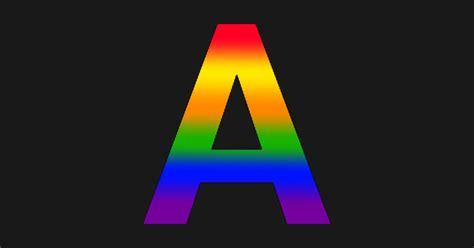 rainbow letter  rainbow sticker teepublic au