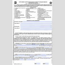 Free New Jersey Standard Residential Lease Agreement (1 Year)  Pdf  Word (doc