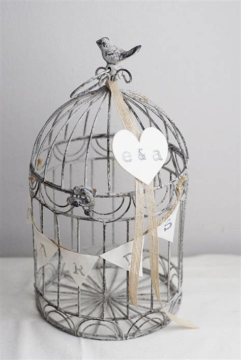 salerustic wedding card bird cage card holder
