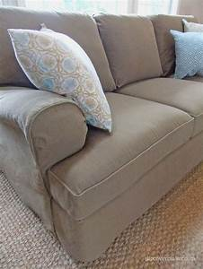 custom made denim slipcover in color burlap a smart With custom made sectional sofa covers