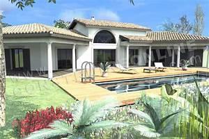 Decouvrez nos plans de maisons provencales for Exceptional modele de maison en l 4 photo terrasse maison provencale