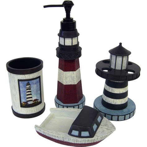 Lighthouse Bathroom Accessories Walmart by Harbor Cove 4pc Bath Accessory Set Walmart