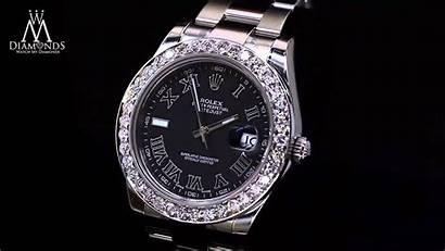 Roman Rolex Diamond Datejust Ii Numeral 41mm