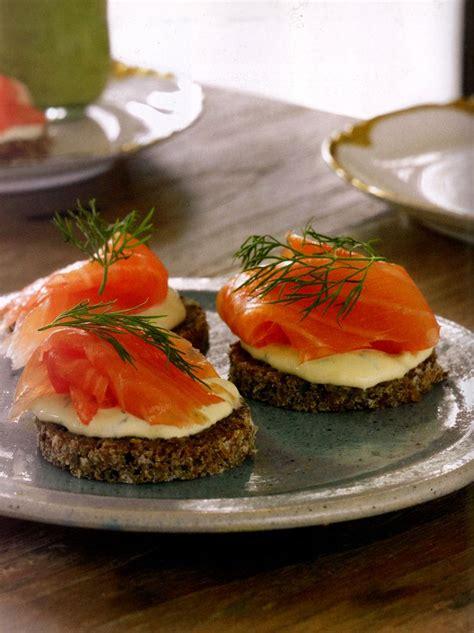 easy smoked salmon canapes salmon canapes recipe dishmaps