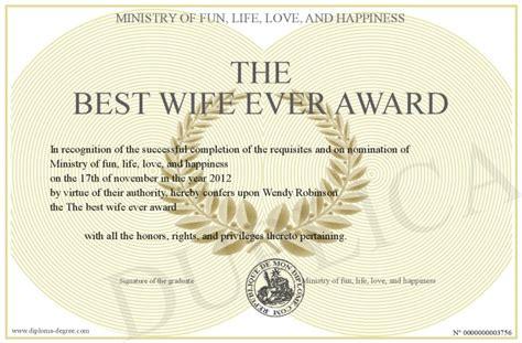 wife  award