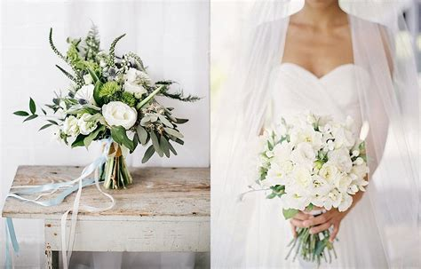 The Loveliest White Wedding Bouquets