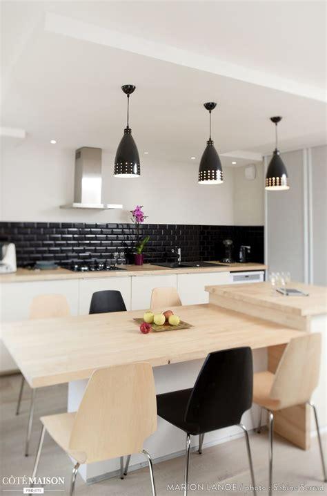 cuisine avec ilot central et table cuisine ouverte haute de gamme plan collection et cuisine