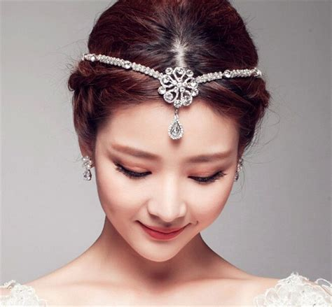 Wedding Bridal Forehead Hair Accessories Tiara Rhinestone