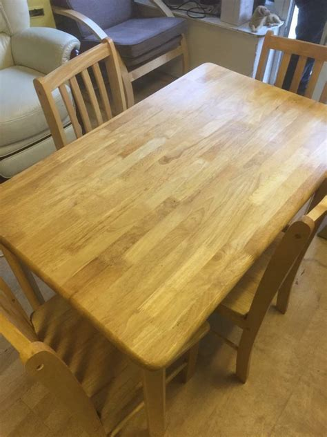 Kitchen Table And Chairs Gumtree Tyne And Wear by Pine Dining Table Four Chairs In Sunderland Tyne And
