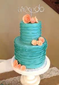 turquoise wedding cakes the cake market turquoise ruffle wedding cake