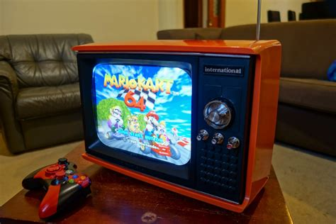 dumpster tv turned  beautiful raspberry pi retro