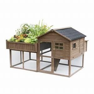 Mini Potager En Bois : poulailler palace carr potager en bois fsc taupe ~ Premium-room.com Idées de Décoration
