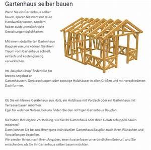 Gerätehaus Selber Bauen Bauplan : gartenhaus bauplan ~ A.2002-acura-tl-radio.info Haus und Dekorationen