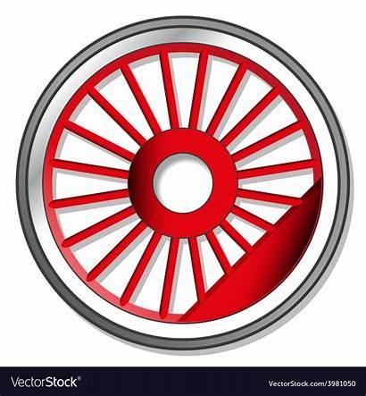 Steam Wheel Locomotive Vector Royalty