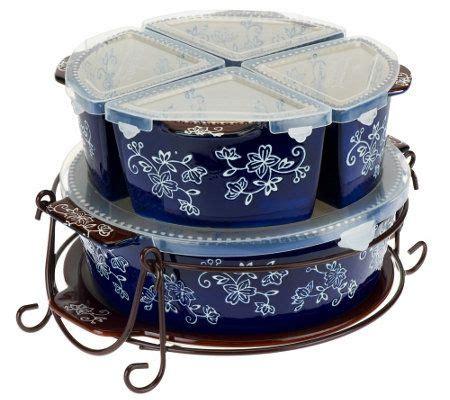 temp tations  pc winter garden  floral lace baker set