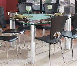 Choose a triangle dining table for your dining room for Choosing glass dining room tables for small space
