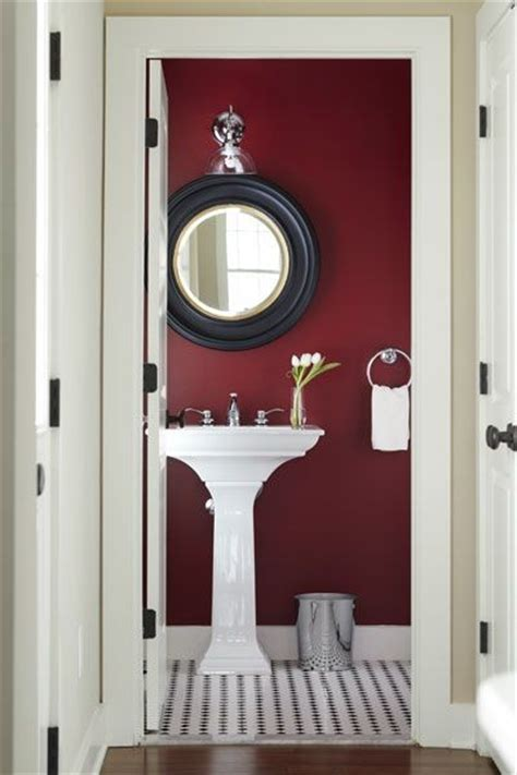 Burgundy Coloured Bathroom Accessories by 21 Interiors In Burgundy Interior For