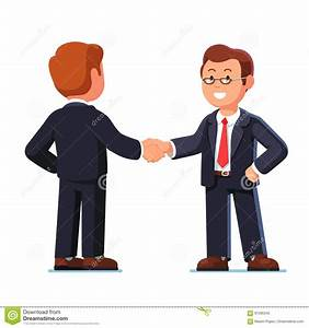 Cartoon Business Characters Shaking Hands Stock Photo ...