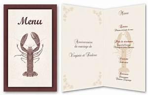 Modele De Menu A Imprimer Gratuit : menu de f te gratuit imprimer homard a ~ Melissatoandfro.com Idées de Décoration