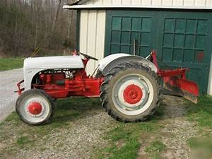 Ford 2n Tractor With Grader Blade Not 9n 8n