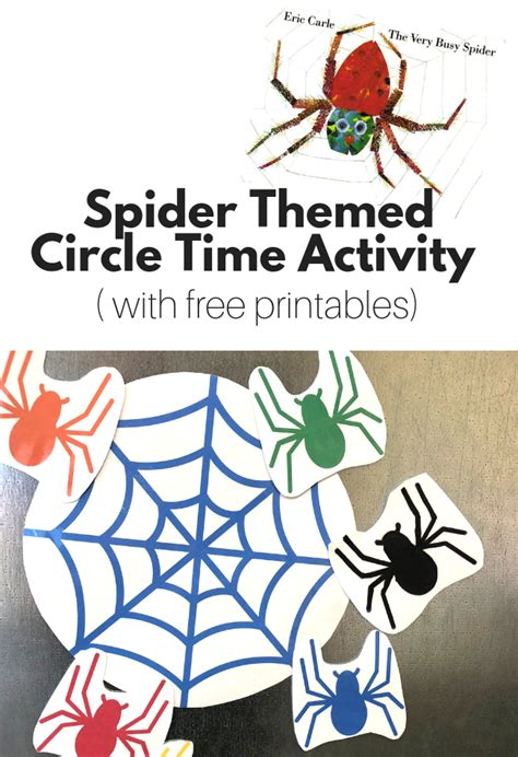 spider themed circle time activity with free printables 664 | Spider ThemedCircle Time Activity