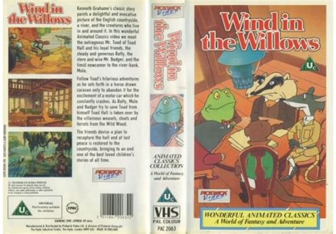 Wind In The Willows (1988)on Pickwick (united Kingdom Vhs