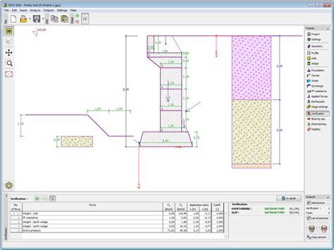 wall design software geo5 prefab wall geotechnical design software earth