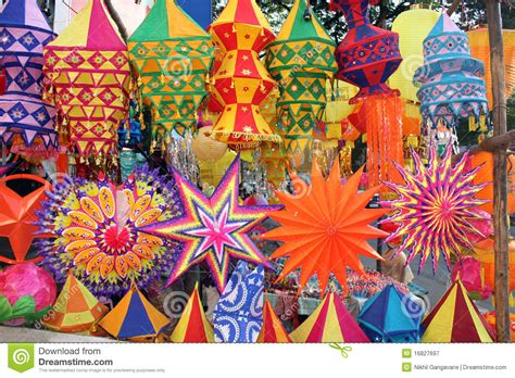 colorful diwali lanterns royalty  stock photography