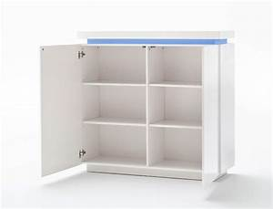 Kommode Weiß Hochglanz 120 Cm : kommode odin 120x114x40 cm hochglanz wei led beleuchtung schrank wohnbereiche wohnzimmer ~ Bigdaddyawards.com Haus und Dekorationen