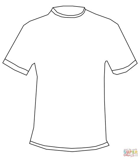 Kleurplaat Shirt by T Shirt Coloring Page Free Printable Coloring Pages