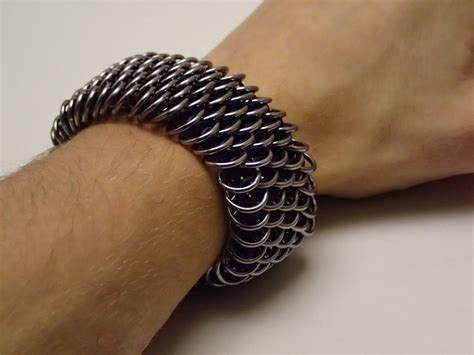 Dragonscale chainmail bracelet by LeseriDesigns on DeviantArt