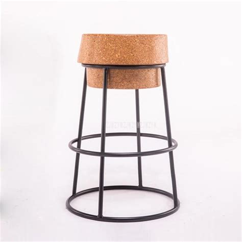 simple modern nordic  circle bar stool soft oak wood