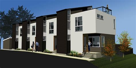 home design denver townhouses exterior rendering lubowicki architecture