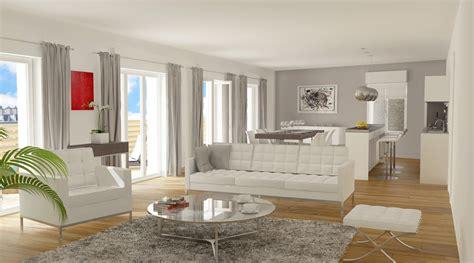 table bureau design intérieur contemporain dans un appartement neuf à 15