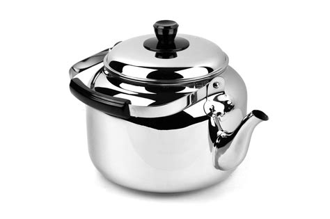 demeyere resto stainless steel tea kettle  quart