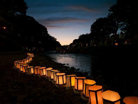 japanese lantern lamp light asian oriental bokeh river