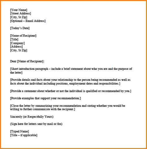 Letter Format Template Personal Letter Template Task List Templates