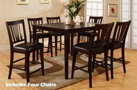 bridgette cm3325pt 5p pub table set by import direct in