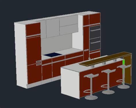 cocina  en autocad descargar cad  kb bibliocad