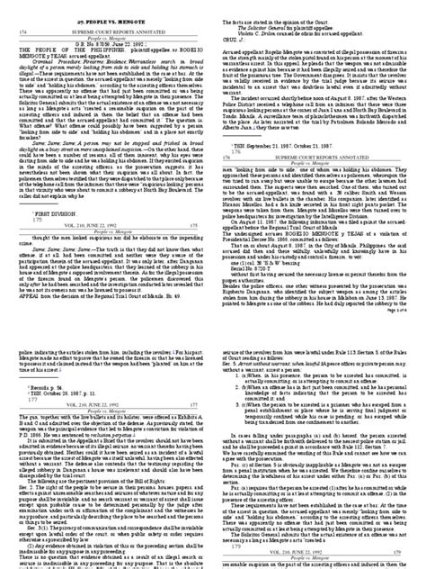 27. People Vs. Mengote: Page 1 of 4   Search And Seizure ...
