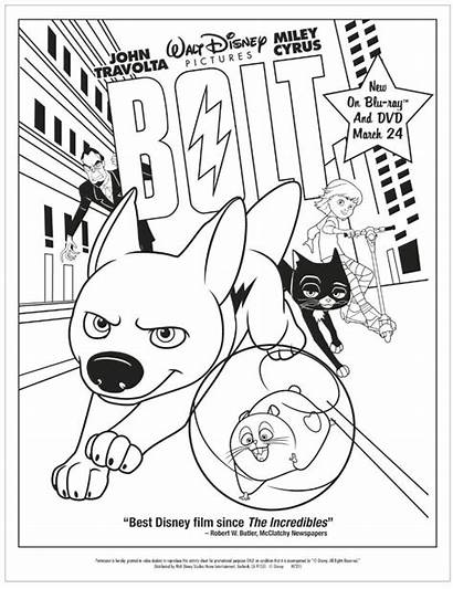 Coloring Pages Disney Bolt Cartoon Movies Raccoon