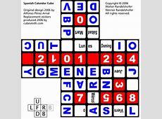 Virtual Cubes Rubik's Cube Calendar Cubes Spanish