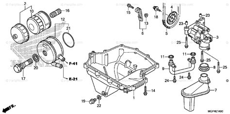 honda motorcycle 2013 oem parts diagram for pan partzilla