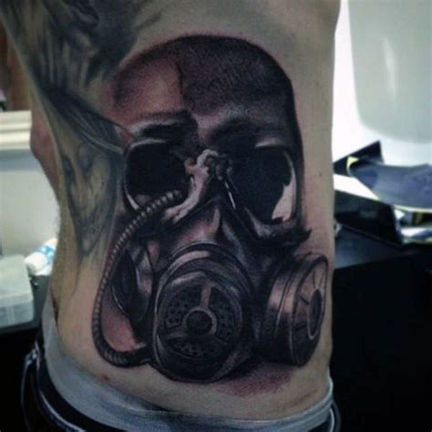 gas mask tattoo designs  men breath  fresh ideas