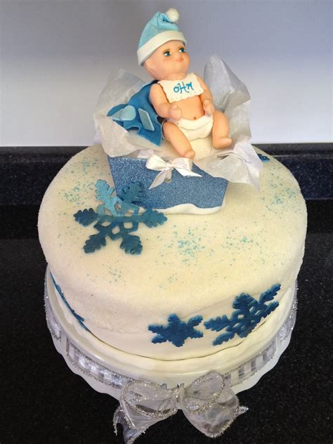 Winter Themed Baby Shower - winter theme baby shower cake cakecentral